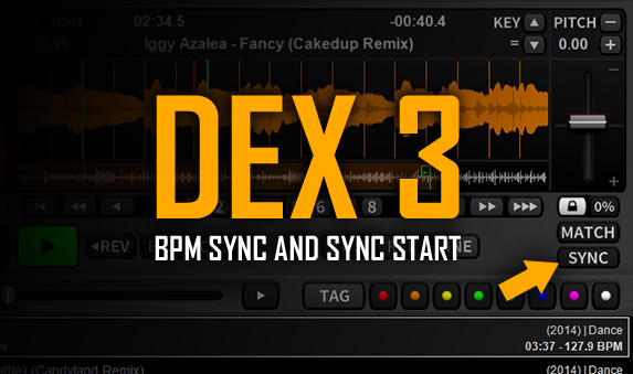 DJ Software Tutorial Video – BPM Beat Sync and Using Sync