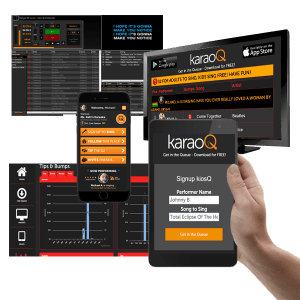 karaoQ360 with karaoke software