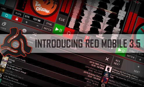 RED Mobile 3.5 DJ software with Pulselocker streaming