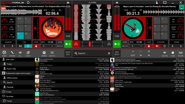 RED Mobile 3.5 DJ mixing software with Pulselocker