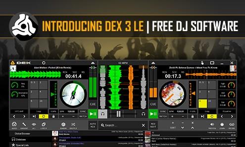 DEX 3 LE Free DJ Software Banner