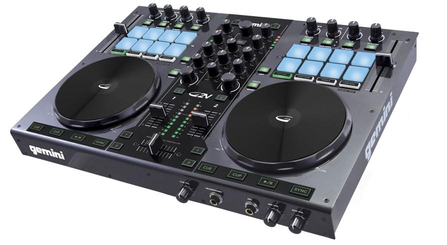 Gemini G2V DJ controller angled