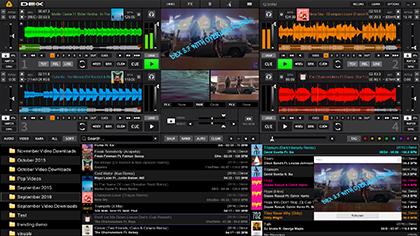 DEX 3 mixing software screen shot med
