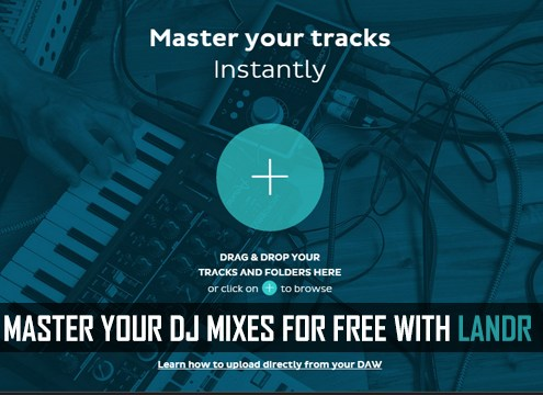 master your DJ software mix with LANDR