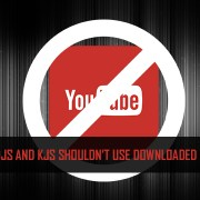 DJS shouldn't use downloaded youtube videos