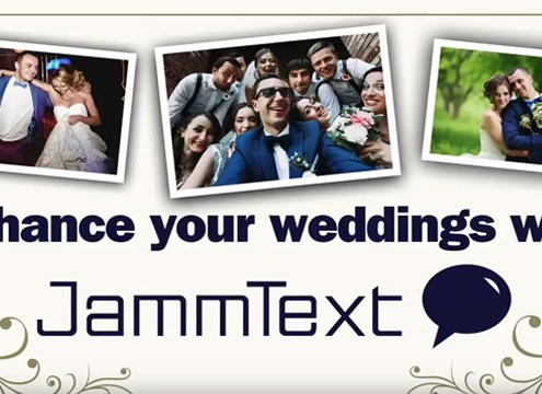 Jammtext text to screen software for weddings