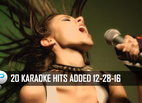 20 Karaoke Hits Added To Karaoke Cloud Pro 12-28-16
