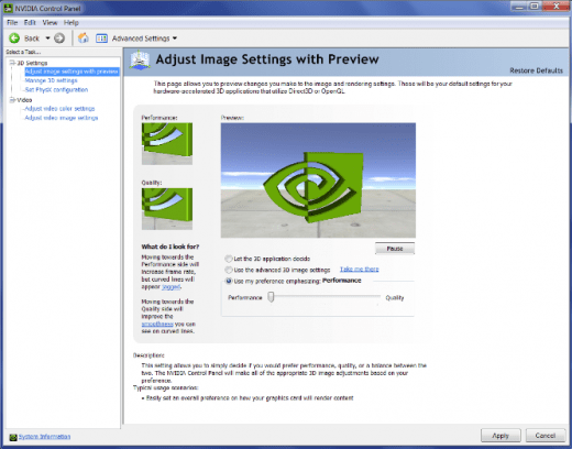 Adjust Image Settings With Preview