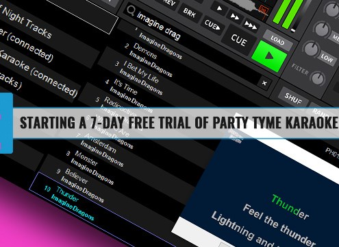 How to start a free trial of party tyme karaoke subscription in DEX 3