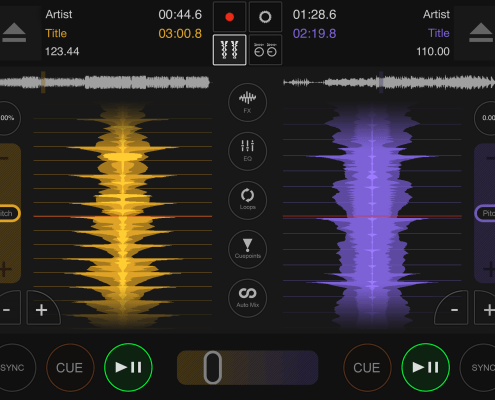 DJ DEX app horizontal waveforms