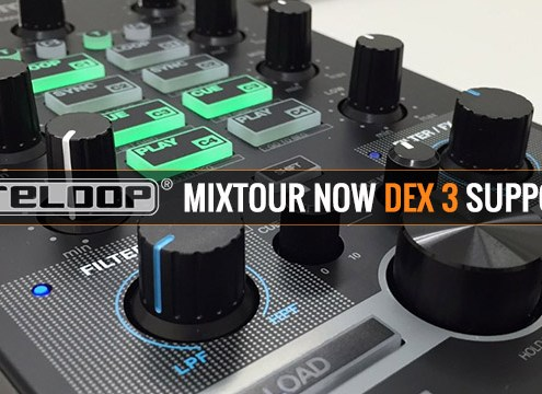 Use the Reloop Mixtour DJ controller with DEX 3 DJ Software