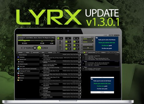 LYRX Karaoke software for MAC update 1.3.0.1