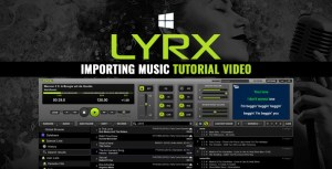 Importing music into LYRX