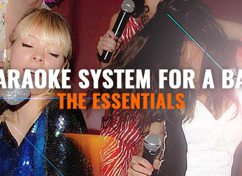 Karaoke equipment for a bar