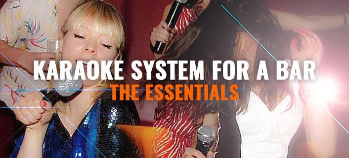 Karaoke equipment for a bar