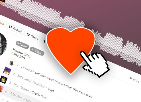 SoundCloud Go+ with DJ Software - the LIKE feature