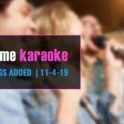 New Karaoke Songs November 2019
