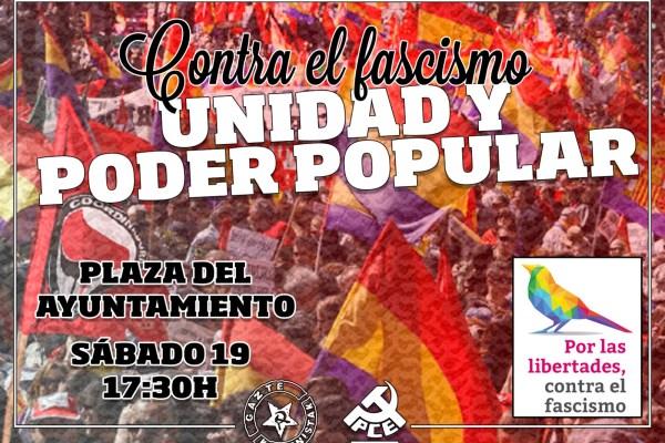 Manifestación contra el fascismo y por las libertades. Pamplona-Iruñea