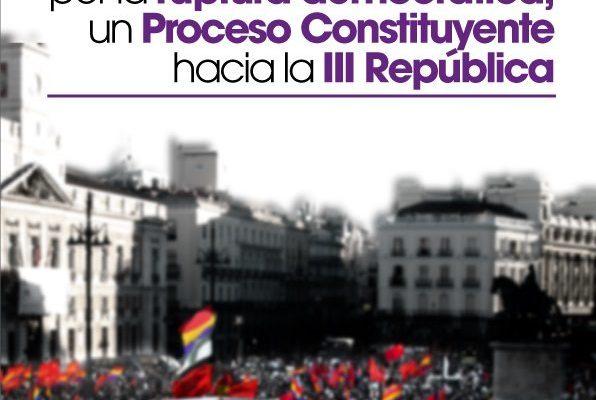 Manifiesto del PCE. Por la ruptura demócratica: Un Proceso Constituyente hacia la III República / Movilizaciones en Euskadi