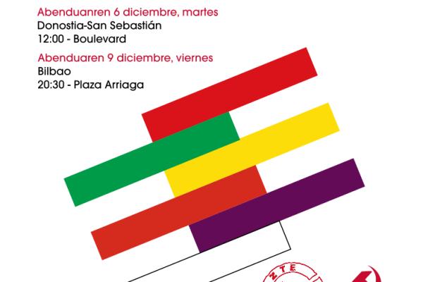 Movilizaciones republicanas el 6 (en Donostia) y 9 (en Bilbao) de diciembre