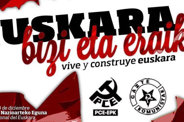 PCE-EPK celebra junto a Gazte Komunistak el Euskeraren Eguna.