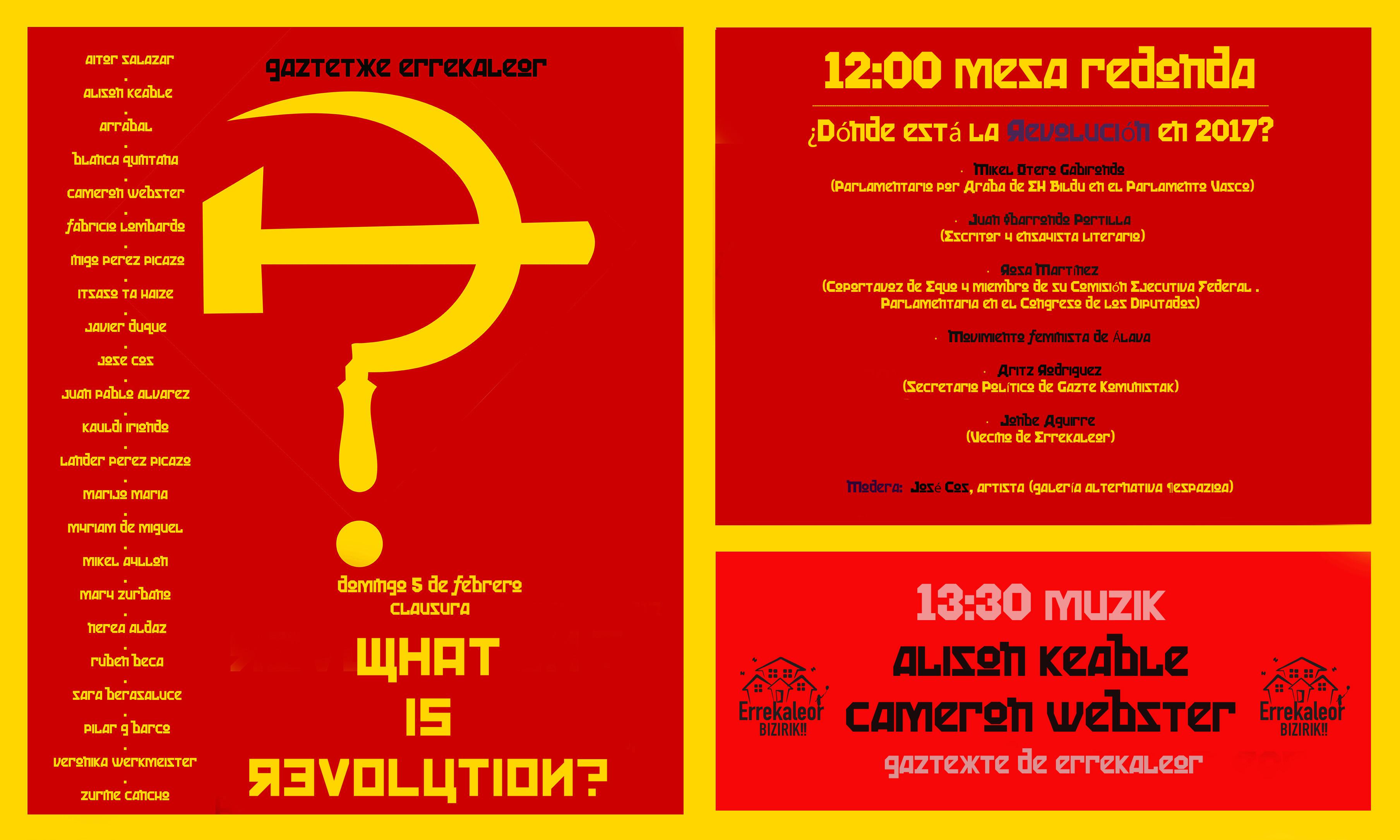 Mesa de debate en Gasteiz ¿Dónde está la Revolución en 2017?