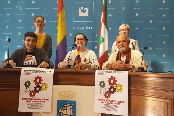 Las asociaciones Republicanas de Euskadi llaman a la movilización por la República para este sábado 8 de Abril en Donostia.