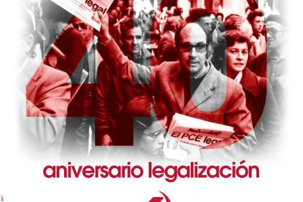 40 años de la legalización del PCE. Lo celebramos en el día de la República en Eibar