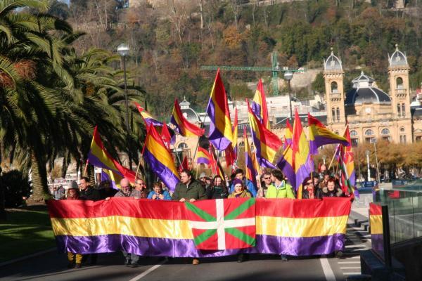 Manifestación Republicana en Donostia 6 de diciembre de 2017