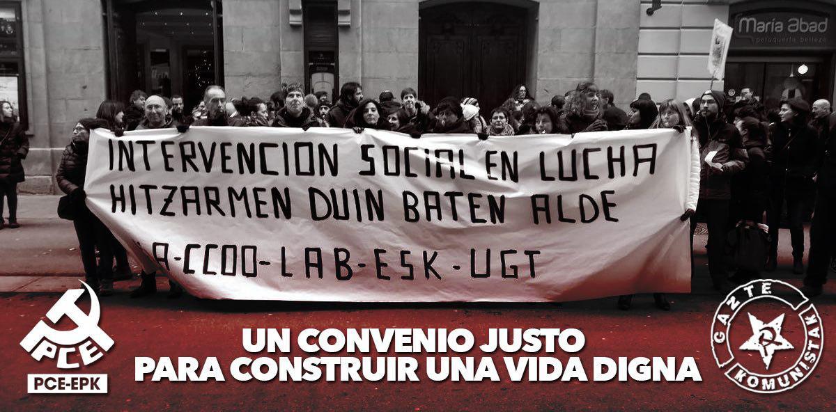 Intervención social en lucha por un convenio justo