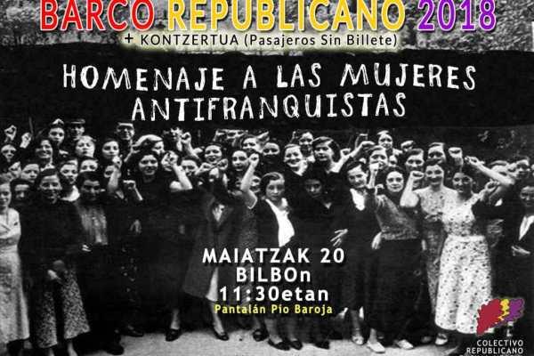 BARCO REPUBLICANO 2018. ITSASONTZI ERREPUBLIKAZALEA
