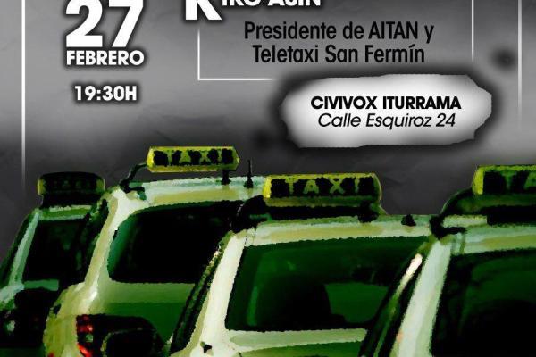 Charla sobre el Conflicto del Taxi. Pamplona.
