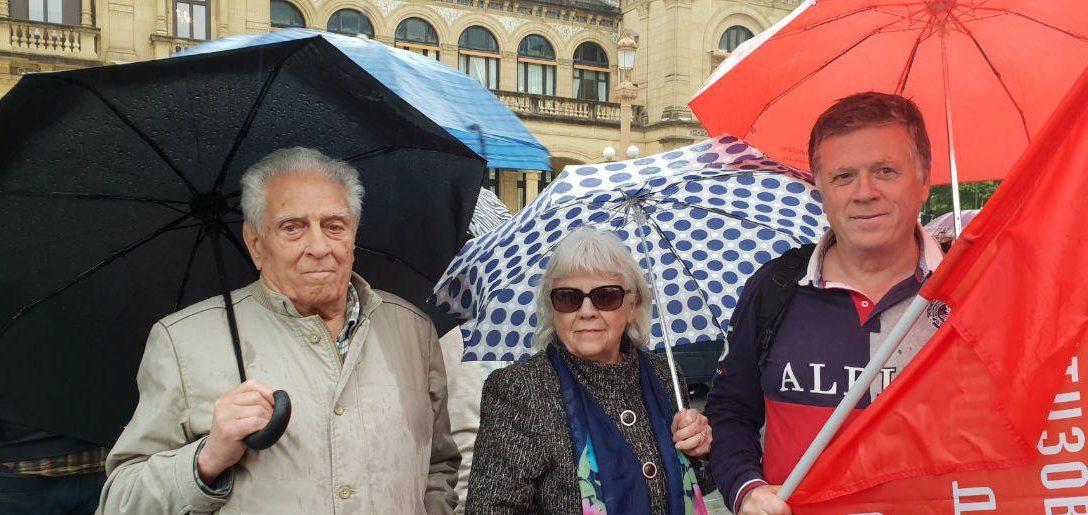 Militantes históricos del PCE-EPK se querellan por crímines del franquismo en el marco de las querellas que varios Ayuntamientos de Euskadi realizarán este viernes.