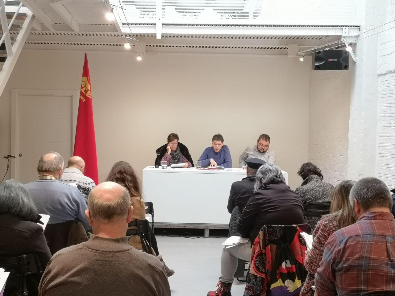 El Comité Nacional del Partido Comunista de Euskadi se reunió en Bilbao este fin de semana.