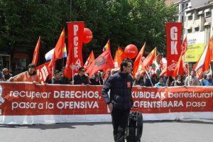El PCE-EPK llama a un primero de Mayo reivindicativo para evitar que sea de nuevo la clase trabajadora quien pague las consecuencias de la crisis.