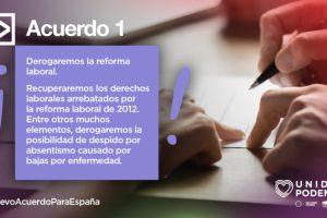 La derogación de la reforma laboral del PP segirá su curso por más que le pese a Iñigo Urkullu, porque es un compromiso de Unidas Podemos-IU incluido en el programa de Gobierno de coalición en España.