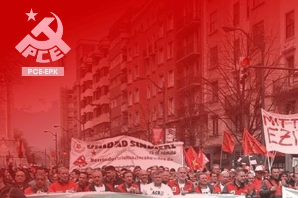 El PCE-EPK se solidariza con las plantillas que están viendo amenazados sus puestos de trabajo y llama a la acción coordinada de sindicatos y fuerzas políticas de izquierda.