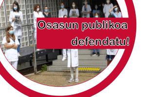 La sanidad pública vasca a la huelga mientras el Gobierno Vasco no asume sus responsabilidades en el escandalo de las vacunas.