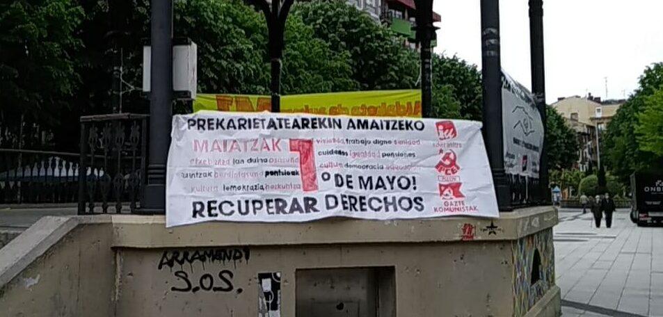 El PCE-EPK considera que el Gobierno Vasco vulnera el derecho fundamental de manifestación ante la prohibición de movilidad para acudir a las convocatorias del 1 de Mayo.