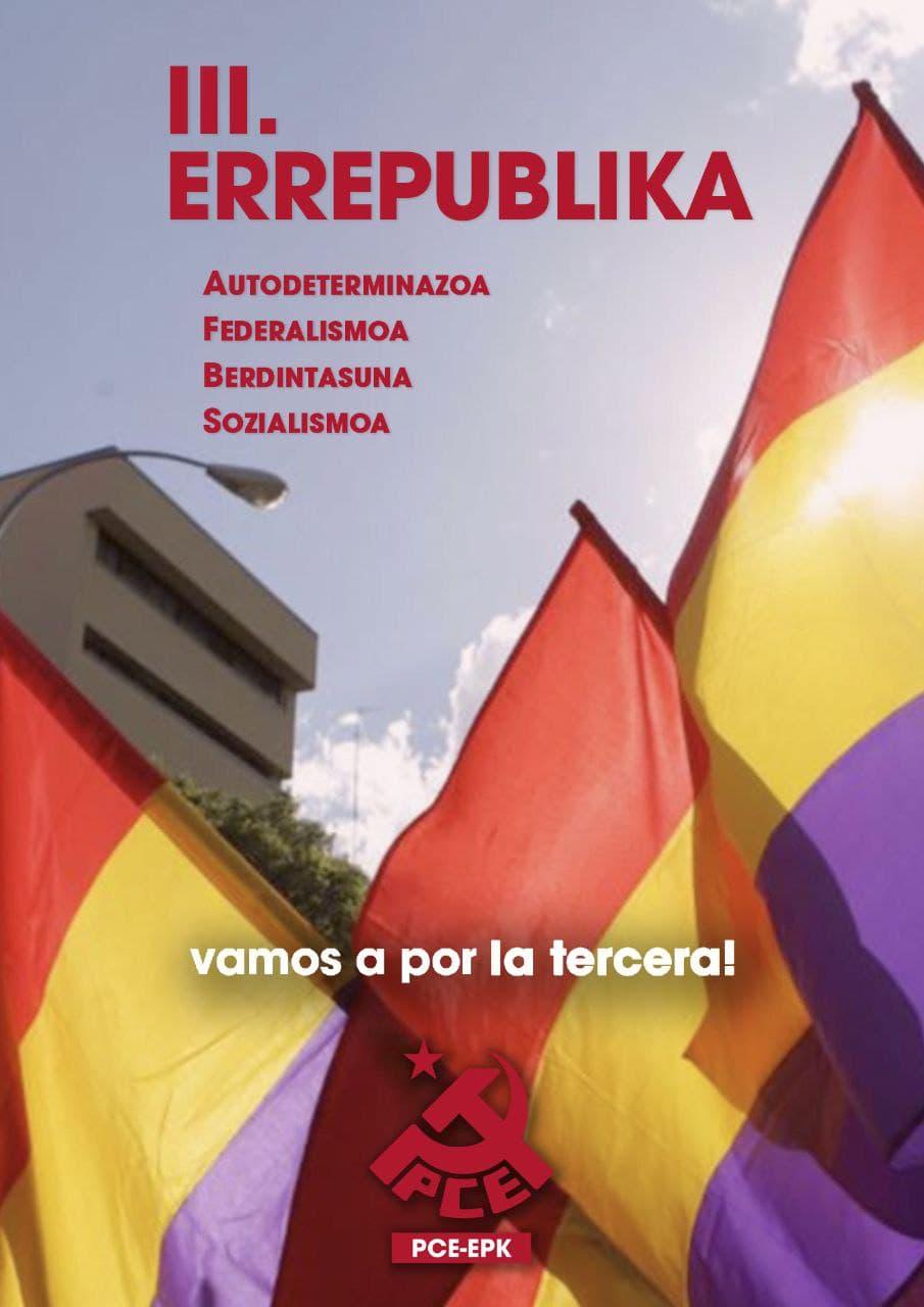 El PCE-EPK ante el 90 aniversario de la II República.