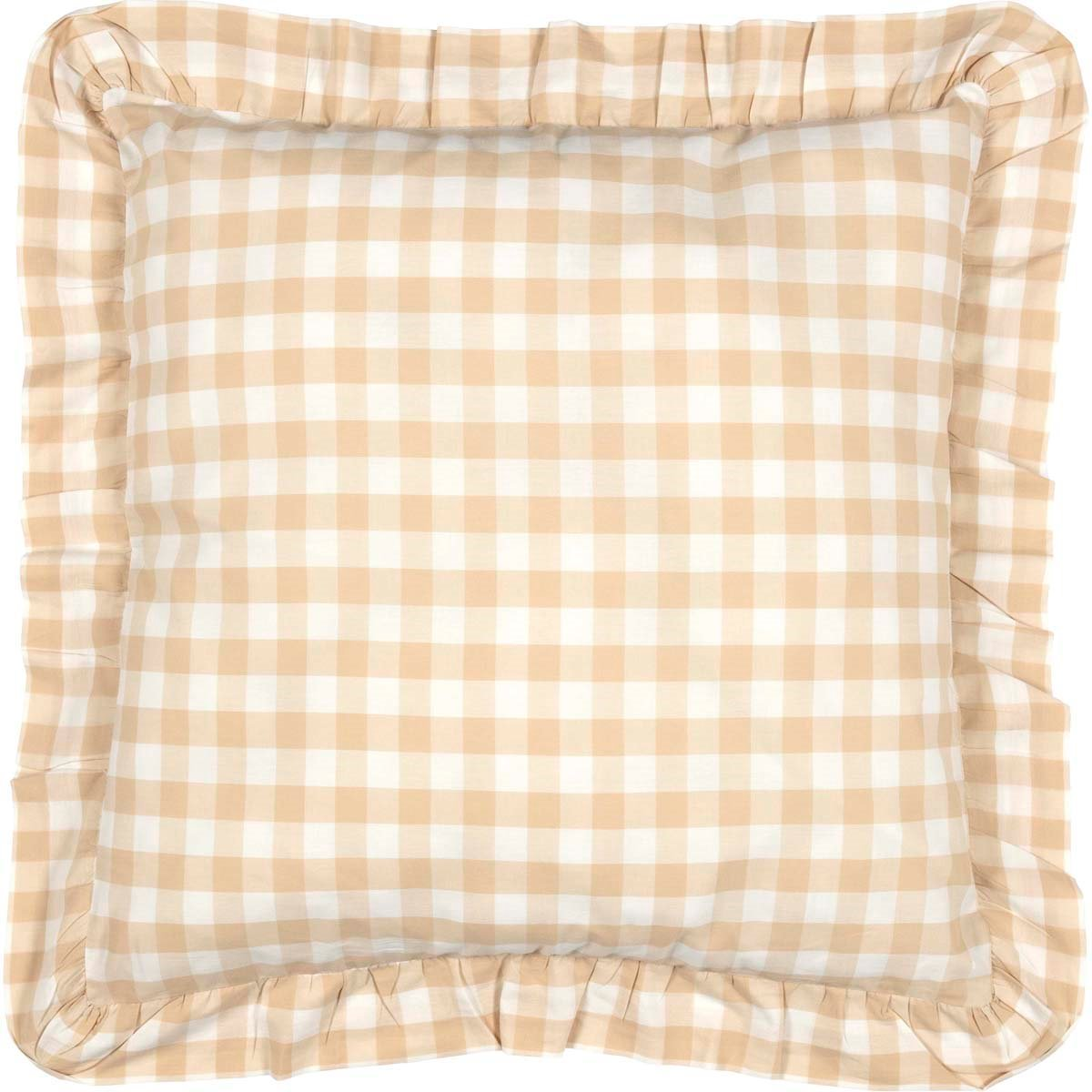 Annie Buffalo Tan Check Fabric Euro Sham 26x26 April