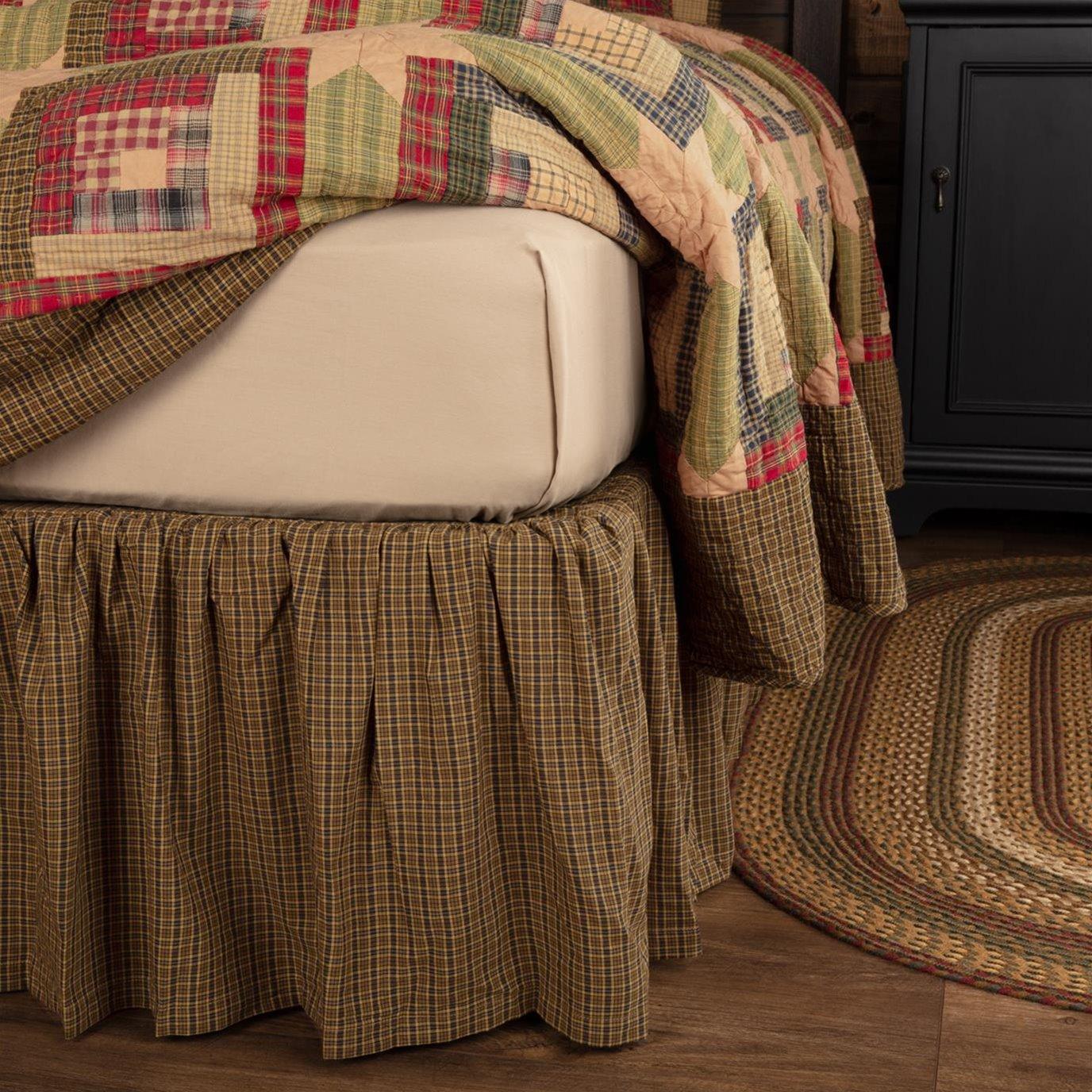 Tea Cabin King Bed Skirt 78x80x16 By Oak Amp Asher