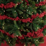 Festive Red Burlap Garland Set Of 3 9ft By Seasons Crest Vhc Brands