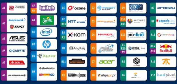 חלק מהחברות אשר אישרו את הגעתם לאירוע IEM 2016