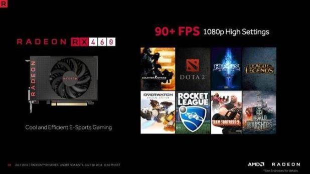 AMD RX 460 90 FPS+