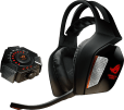 ROG Centurion_True 7.1 surround gaming headset_headphone and control box