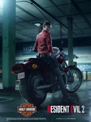 Resident Evil 2 Claire Harley Davidson