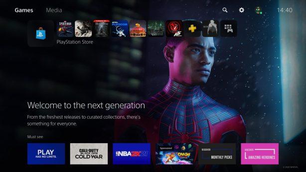 Spiderman Miles Morales Main Screen