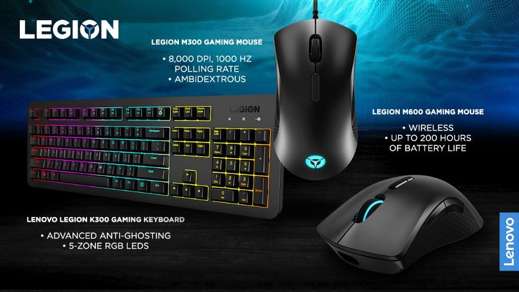 סיקור מקלדת Legion K300 ועכבר Legion M600 Wireless