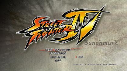 Ein Ausschnitt aus dem Street Fighter IV Benchmark